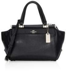 Coach Grace Petite 20 Leather Top Handle Bag