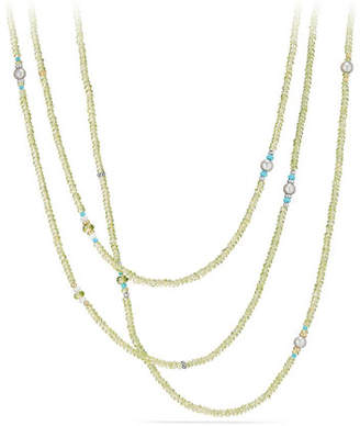 David Yurman Mustique Tweejoux Peridot Long Beaded Necklace, 62""