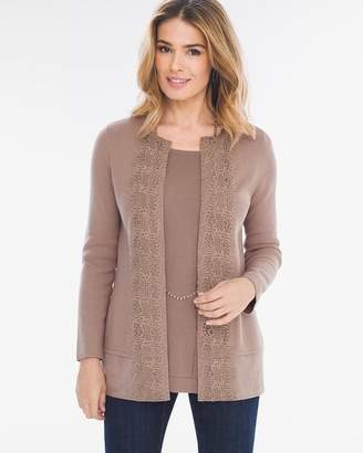 Chico's Lace-Front Cardigan