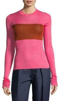 Calvin Klein Silk Crewneck Pullover
