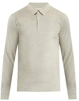 Hamilton And Hare - Long Sleeved Cotton Polo Shirt - Mens - Grey