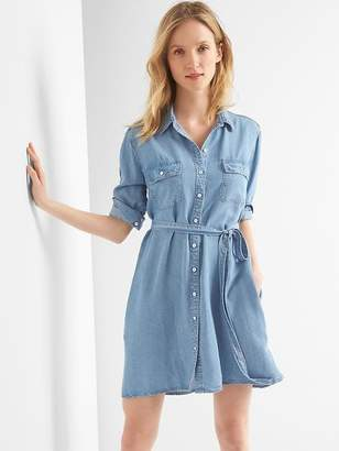 Gap TENCEL denim tie-belt shirtdress