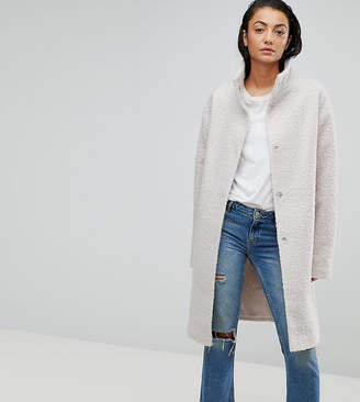Asos Tall TALL Oversized Coat with Funnel Neck