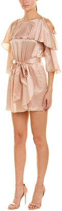 Rachel Zoe Cold-Shoulder Silk Romper