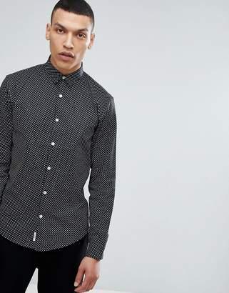 Lindbergh All Over Print Shirt in Black