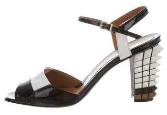 Fendi Studded Ankle Strap Sandals