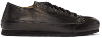 Brioni Black Lambskin Low-Top Sneakers