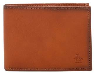 Original Penguin RFID Slim Bifold Leather Wallet