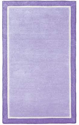 Pottery Barn Teen Capel Border Rug, 3'x5', Pale Lavender/Purple