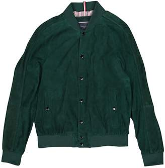 Tommy Hilfiger Green Suede Jackets