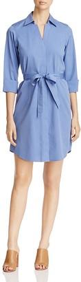 Foxcroft Three-Quarter Sleeve Poplin Shirt Dress $108 thestylecure.com