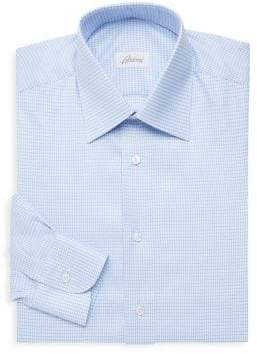 Brioni Classic-Fit Houndstooth Dress Shirt