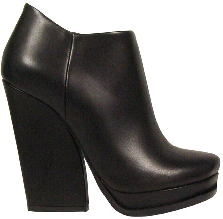 Lanvin Platform Ankle Boot With Chunky Heel In Black