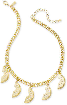 """INC International Concepts I.N.C. Gold-Tone Watermelon Statement Necklace, 18"""" + 3"""" extender, Created for Macy's"""