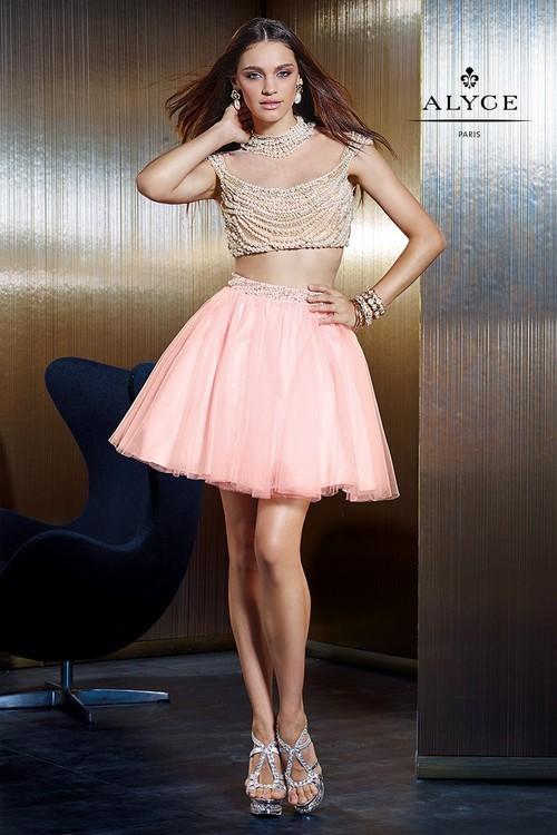 Alyce Paris Claudine - 2485 Dress in Light Pink