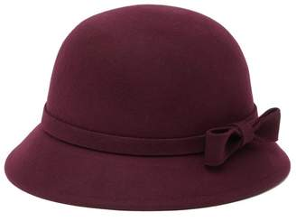 Phenix Wool Cloche Bow Hat