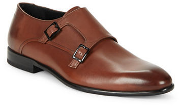 Hugo Boss Hugo Boss Leather Double Monk Strap Shoes