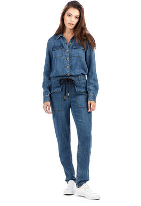 True Religion WOMENS DENIM JUMPSUIT