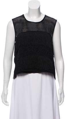 Alexis Sleeveless Fringe-Accented Top