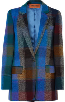 Missoni Checked Wool-blend Blazer - Blue