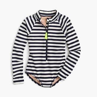 Girls' long-sleeve one-piece swimsuit in stripe $65 thestylecure.com