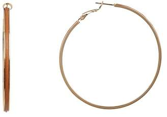 Argentovivo Large Hoop Earrings
