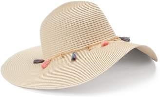 Mudd Women's Tassel & Chain Floppy Hat