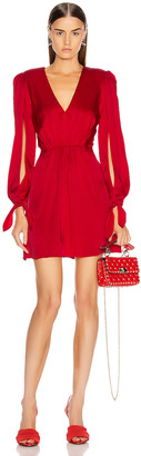HANEY Joplin V Neck Dress in Red | FWRD