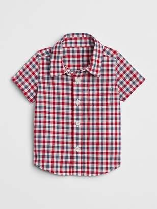 Gap Plaid Short Sleeve Shirt