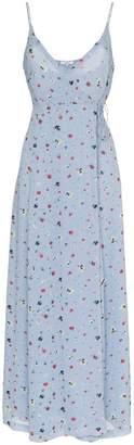 Ganni dainty georgette crepe wrap dress