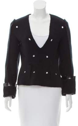Calvin Klein Collection Structured Cutout Sweater