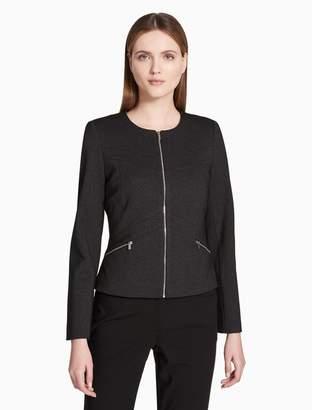 Calvin Klein seamed zip front jacket