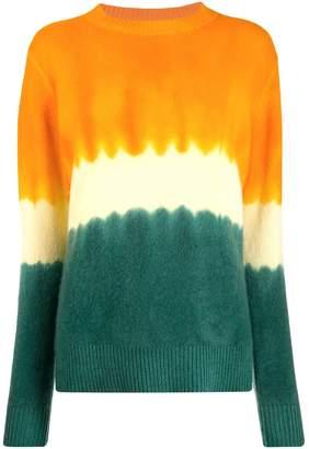 The Elder Statesman tie-dye cashmere jumper