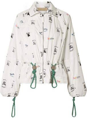 Burberry Printed Shell Jacket - White