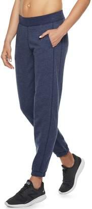 Tek Gear Petite Fleece Banded Bottom Mid-Rise Sweatpants