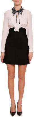 Miu Miu Cady And Crepe Dress