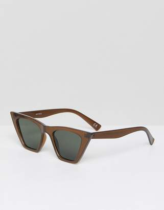Asos Cat Eye Sunglasses With Square Frame