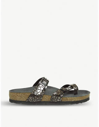 Birkenstock Mayari stone-effect metallic sandals