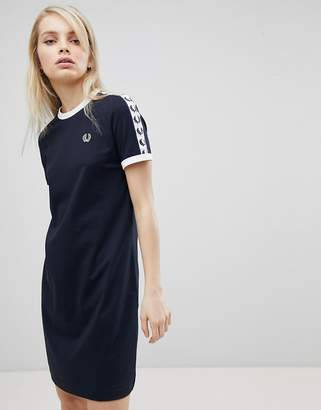 Fred Perry Logo Tape Ringer T-Shirt Dress