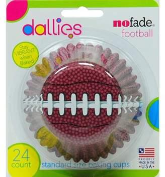 Dallies NoFade Cupcake Liner Football 24 Count