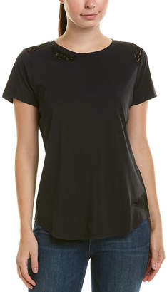 NYDJ Lace-Trim T-Shirt