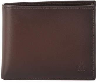 Original Penguin Men's Michigan Slim Bi-Fold Leather Wallet