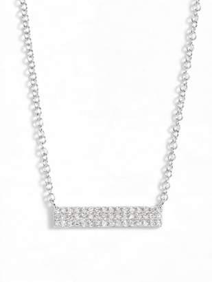 Ef Collection Mini Diamond Pendant Necklace