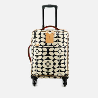Orla Kiely Women's Sixties Stem Nylon Travel Cabin Case - Charcoal Blue