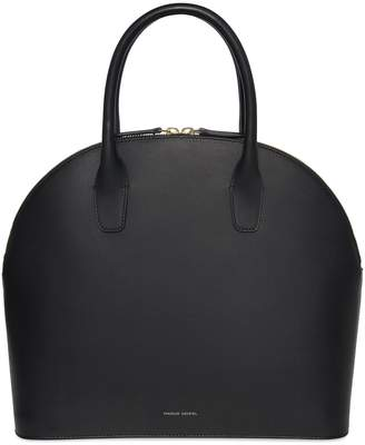 Mansur Gavriel Black Top Handle Rounded Bag