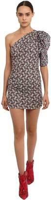 Etoile Isabel Marant Lilia Printed One Shoulder Cotton Dress