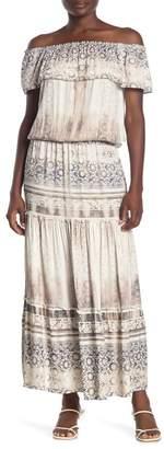 Hale Bob Off-the-Shoulder Popover Maxi Dress