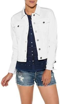 Silver Jeans Co. White Denim Jacket