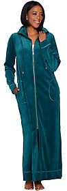 Bob Mackie Bob Mackie's_Knit Velour Zip Front Robe