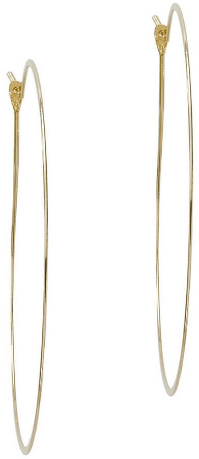 Michael Kors Thin Gold-Tone Hoop Earrings